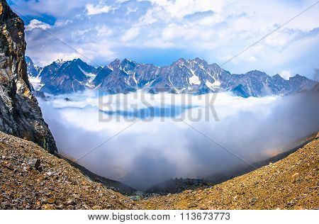 Above The Clouds In The Mountains