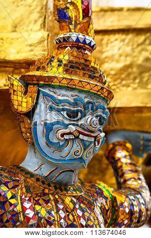 Sculpture Of Rakshasa In Thailand