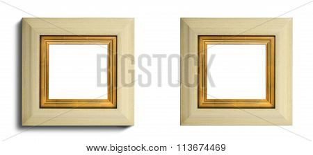 Cream Ivory Frame Square Wall Hanging Or Mirror Some Inner Gildi