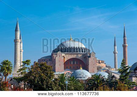 The famous Hagia Sophia in Istanbul