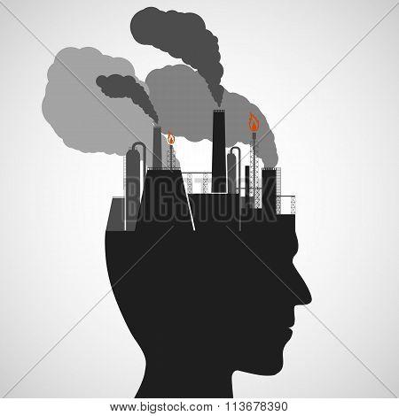 Human Head. Stock Illustration.