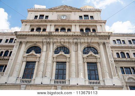 Former Stock Exchange Building in Havana,Cuba