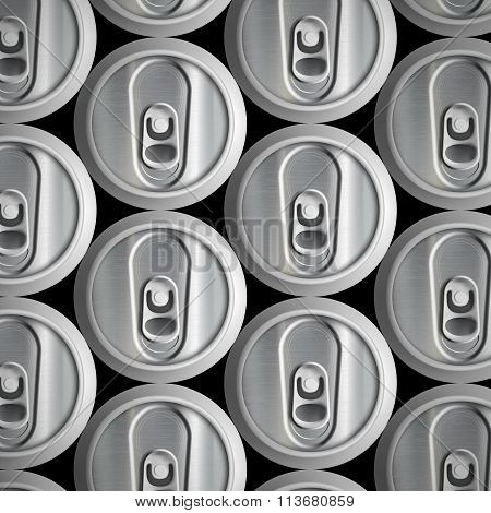 Metal Cans. Stock Illustration.