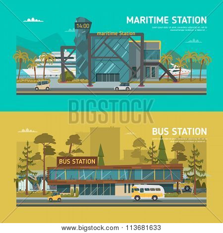 Maritime and bus stations