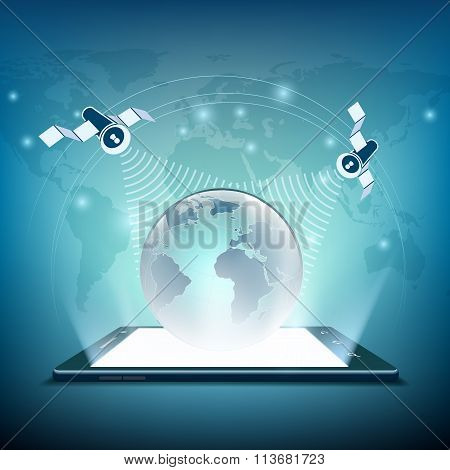 Satellites. Stock Illustration.