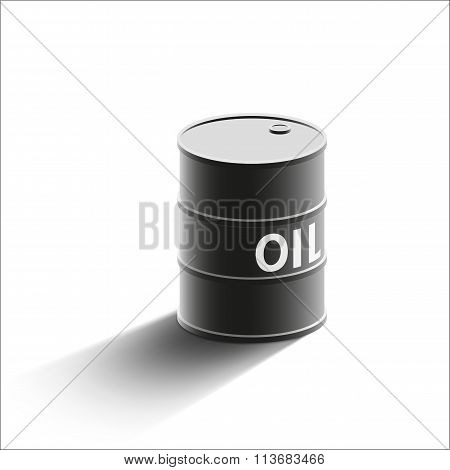 Barrel Oil. Stock Illustration.