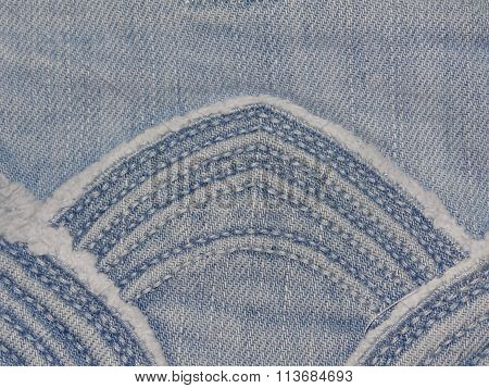 denim texture with pattern