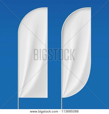Set Flagpoles. Stock Illustration.