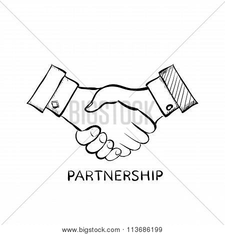 Handshake. Stock Illustration.