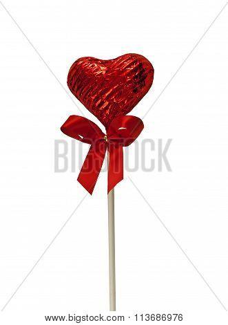 Heart shaped chocolate Lollipop