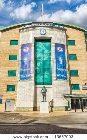 Stamford Bridge Stadium, Home Of Chelsea Football Club, London