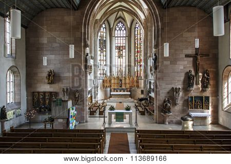 NUREMBERG, GERMANY - AUGUST 23, 2015: The St. James Church in Nuremberg is a truly historical place with the city's oldest High Altar