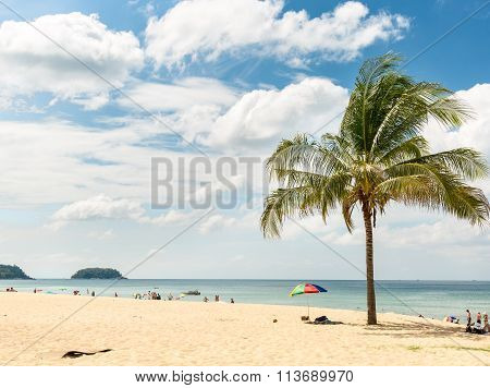 Karon beach in Phuket island in Thailand
