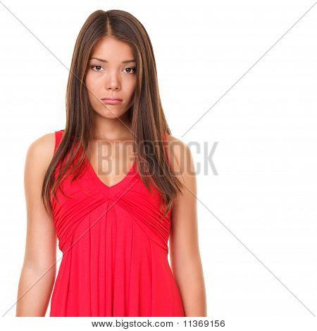 Sad Girl Isolated On White