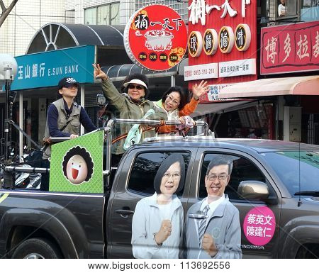 Presidential Election Campaign In Taiwan