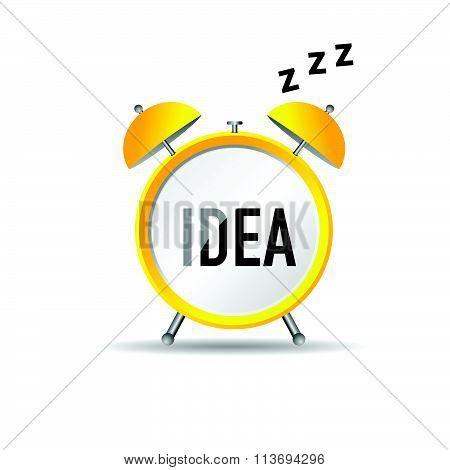 Clock Idea Vector In Yellow