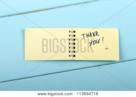 Thank You A spiral Notepad