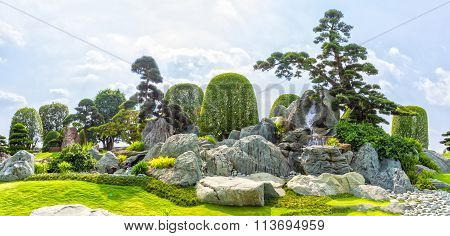 Japanese rock garden in Vietnam