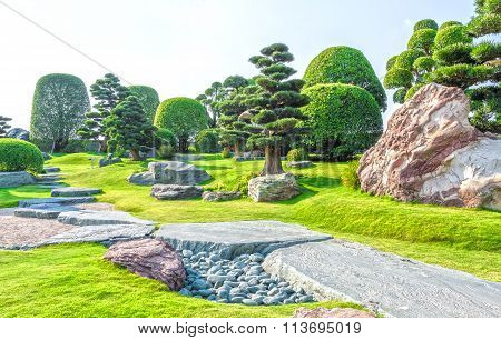 Japanese bonsai garden in Vietnam