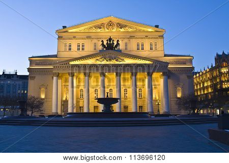 Moscow, Big Theatre At Night