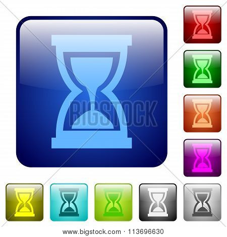 Color Hourglass Square Buttons
