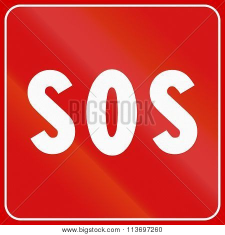 Road Sign Used In Italy - Sos