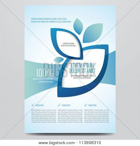 Brochure, flyer, annual report, magazine cover vector template. Modern corporate design.