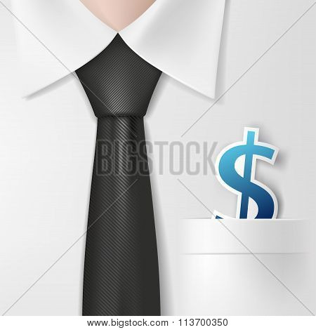 Dollar Signs. Stock Illustration.