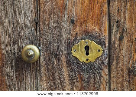 Old Keyhole On A Door