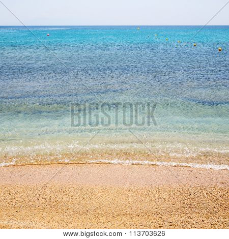 Tide Foam And Froth In The Sea    Of Mediterranean Greece