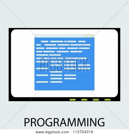 Programming icon flat design