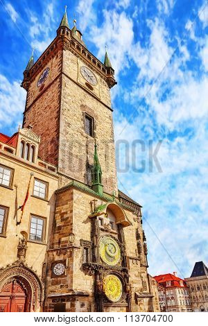 Old Town Hall(staromestske Namesti)is Historic Square In The Old Town Quarter Of Prague, The Capital