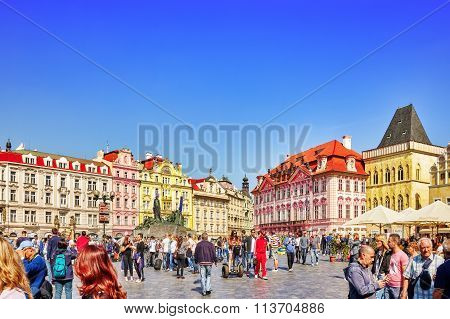 Prague,czech Republic- September 12, 2015: Peoples On Staromestske Namesti (old Town Square), Histor