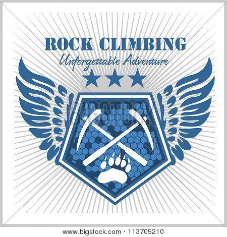 Rock climbing and mountain climbing.