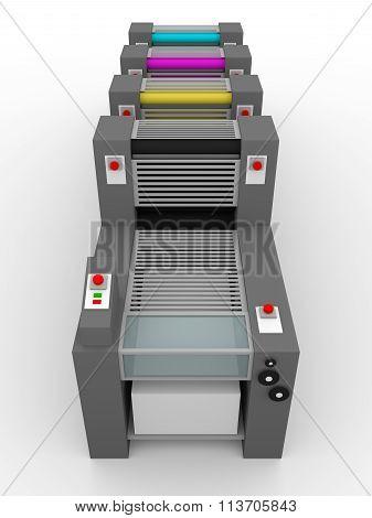 Printing Press Cmyk Rollers