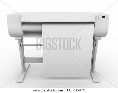 Plotter In Frontal View