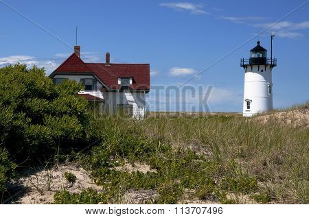 Race Point Lighthouse In Provincetown, Massachusetts