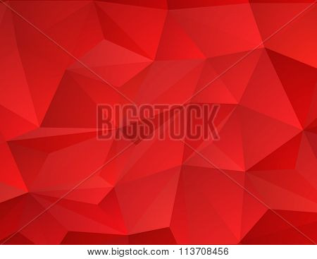 Abstract red mosaic bakground. Vector