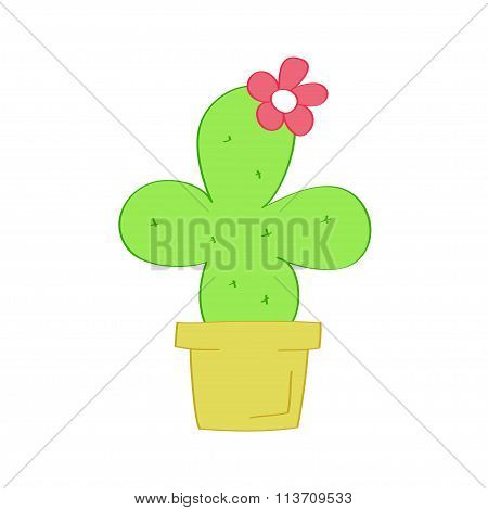Cactus isolated icon on white background.