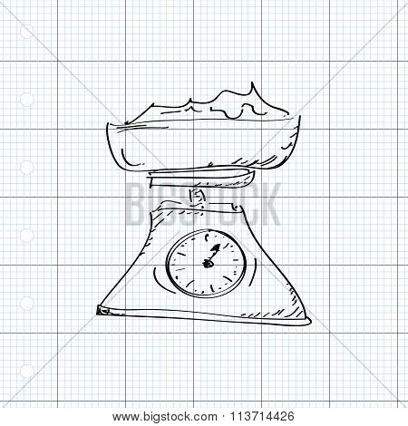 Simple Doodle Of A Set Of Weighing Scales