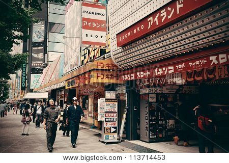 TOKYO, JAPAN - MAY 13: Street view on May 13, 2013 in Tokyo. Tokyo is the capital of Japan and the most populous metropolitan area in the world