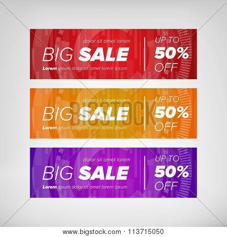 Big sale horizontal banners