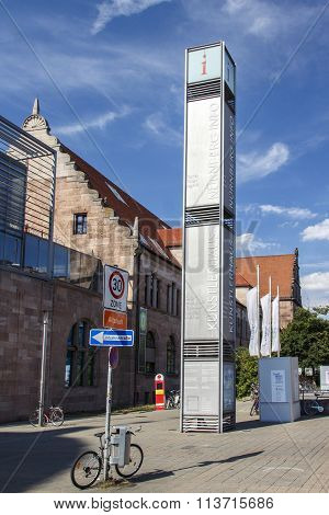 NUREMBERG, GERMANY - AUGUST 23, 2015: The house of artists in Nuremberg is located close to the tourist information and the central railway station
