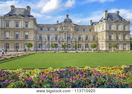 Paris,France  ;August 12, 2014 -  Summer Day In The Luxemburg Garden  In Paris  On August  2014