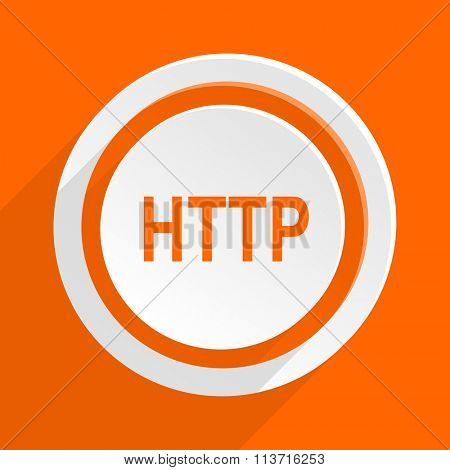 http orange flat design modern icon for web and mobile app
