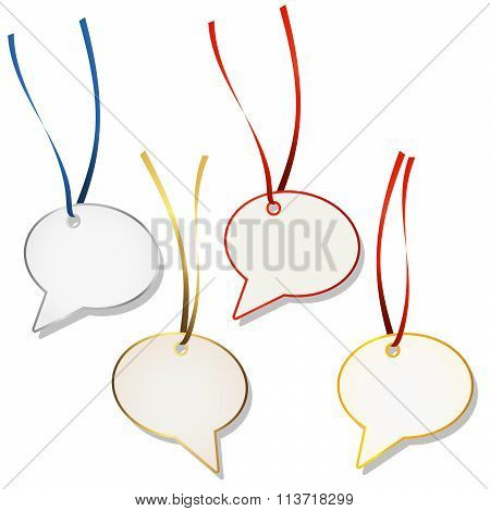 Speech Bubble Hangtags