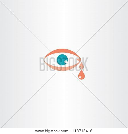 Human Eye Cry Tear Vector Icon