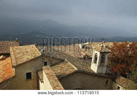 Roofs of San Marino. The Republic of San Marino