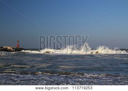 Storm on the Adriatic Sea, Italy
