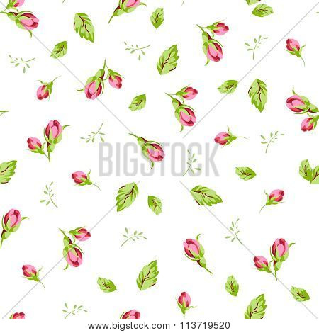 Pattern With Small Buds Roses